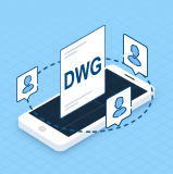 如何将手机中的DWG图纸发送给他人?